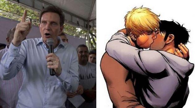 """Em um vídeo publicado nas redes sociais, o prefeito afirma que HQ de super-heróis tem """"conteúdo..."""