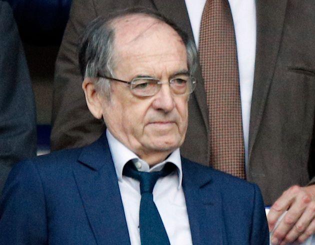 Noël Le Graët, ici en mai 2018 au stade de France, s'agace des interruptions de matches pour...