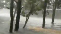 Les îles de Caroline du Nord inondées après le passage de l'ouragan