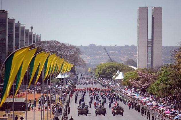 Desfile de 7 de setembro de 2018 na Esplanada dos Ministérios, em