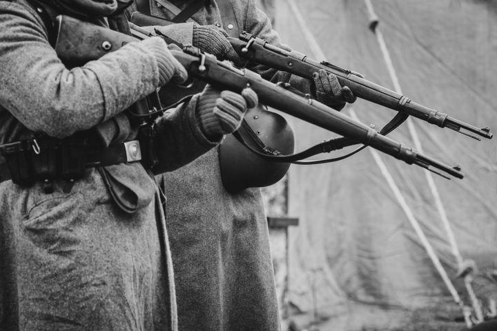 Two German soldiers in World War II.