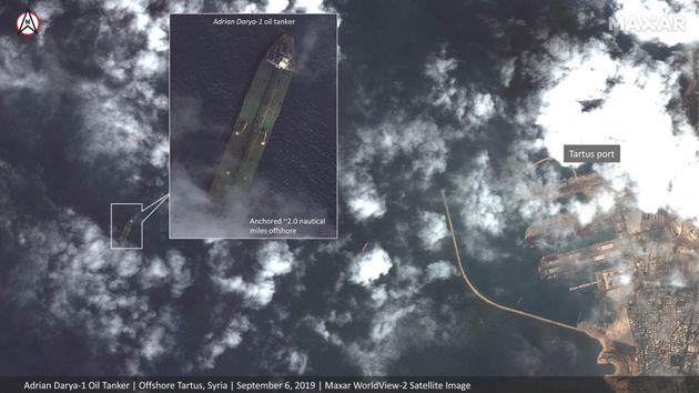 Το ιρανικό δεξαμενόπλοιο φωτογραφήθηκε ανοιχτά της Ταρτούς στην