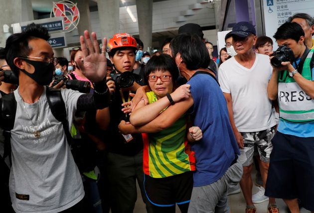 People attend a protest in Tung Chung station, in Hong Kong, China September 7, 2019. REUTERS/Anushree
