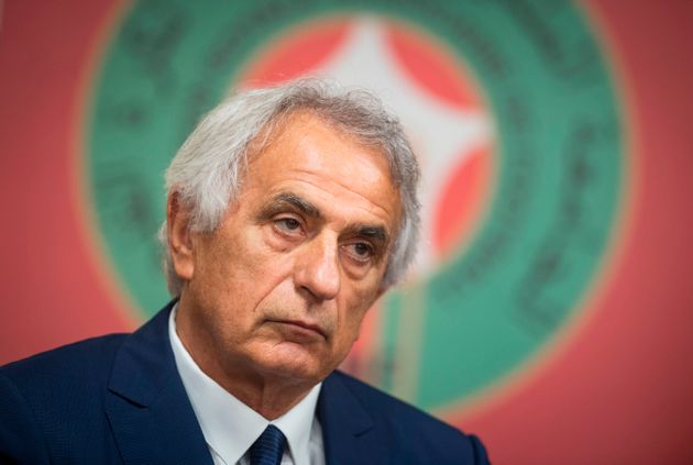 Bosnian coach Vahid Halilhodzic looks on during a press conference in the capital Rabat on August 15,...