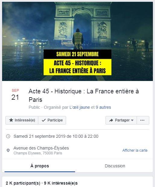 Les gilets jaunes se donnent rendez-vous à Paris le 21