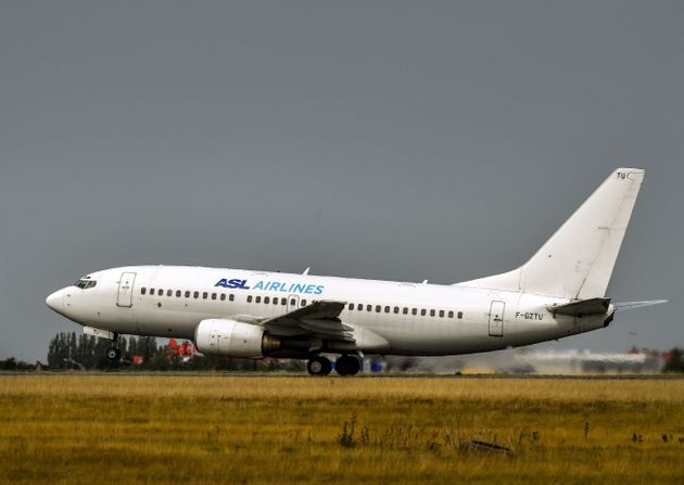 An aircraft of the low cost airline carrier ASL Airlines takes off from Lille Airport in Lesquin on August...