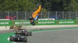 Un accident impressionnant lors d'une course de Formule