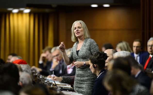 Minister Catherine McKenna stands during question period in the House of Commons on Feb. 5,