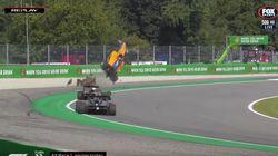 Espeluznante accidente en Monza durante la prueba de Formula