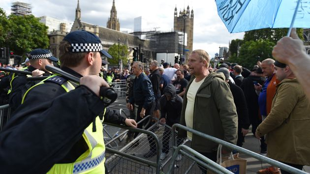MP 'Frightened To Speak' As Brexit Protest On Parliament Square Turns