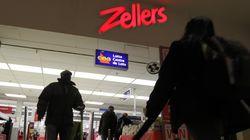 Les deux derniers magasins Zellers au Canada fermeront sous