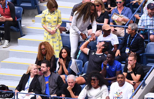 Meghan Markle watches Serena Williams at the 2019 U.S.