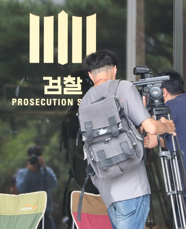 조국 후보자 부부를 촬영하기 위한 취재진들의 현재