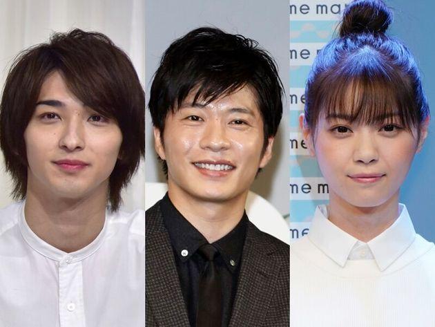 「あなたの番です」に出演する、田中圭(中央)、横浜流星(左)、西野七瀬(右)