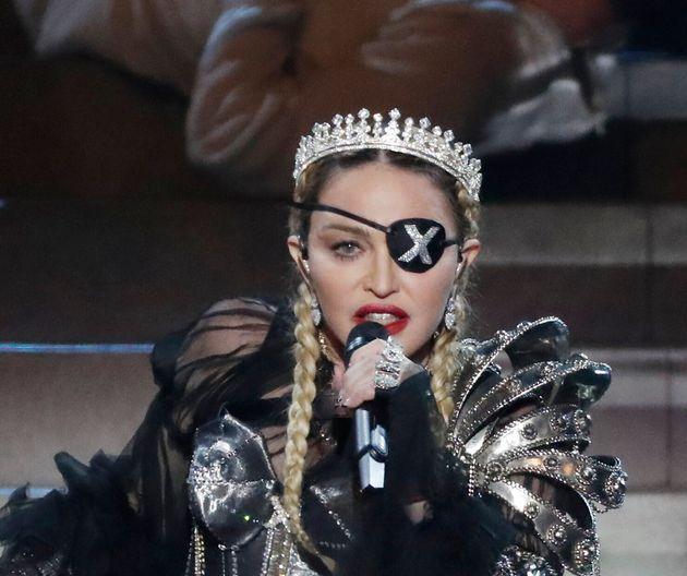 Madonna ici lors de sa performance à l'Eurovision à Tel Aviv le 18 mai