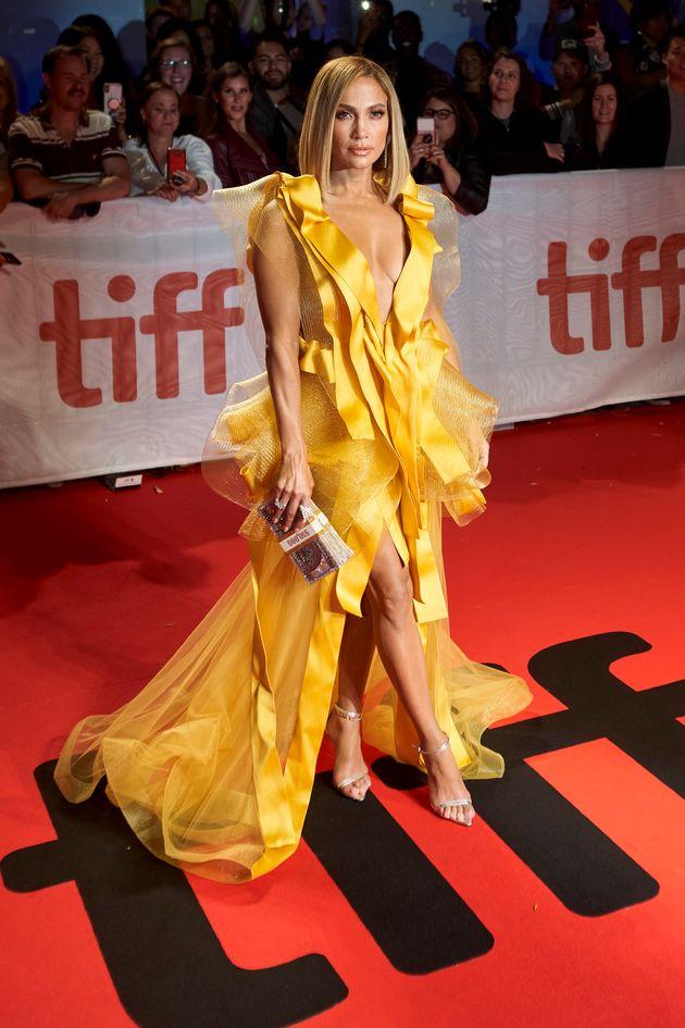 Jennifer Lopez à la première de