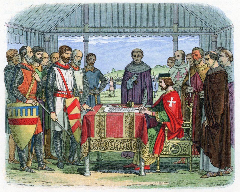 Ο βασιλιάς Ιωάννης υπογράφει...