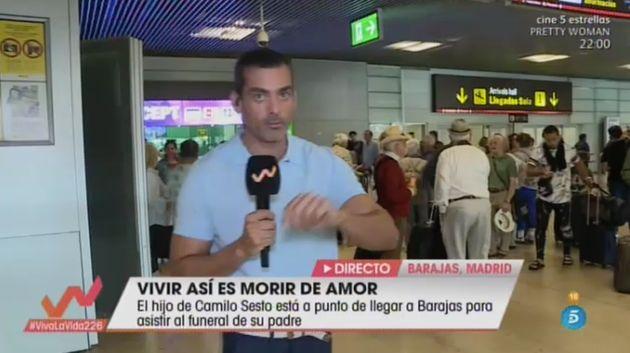 Un reportero de 'Viva La Vida' espera al hijo de Camilo Sesto en el