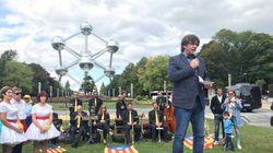 Cachondeo con esta imagen de Puigdemont en Bruselas: la clave está a la