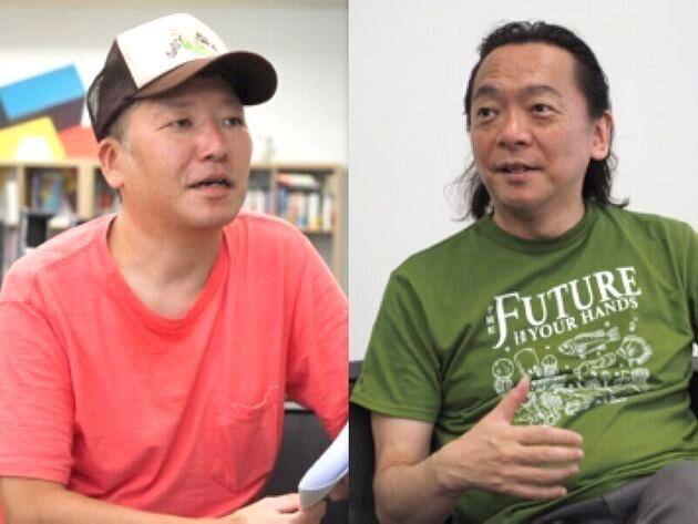 (左から)村橋ゴローさん、NPO法人『ファザーリング・ジャパン』代表理事・安藤哲也さん