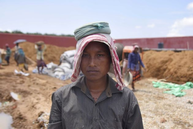 Shefali Hajong, a labourer whose name is excluded from the final list of the National Register of Citizens...