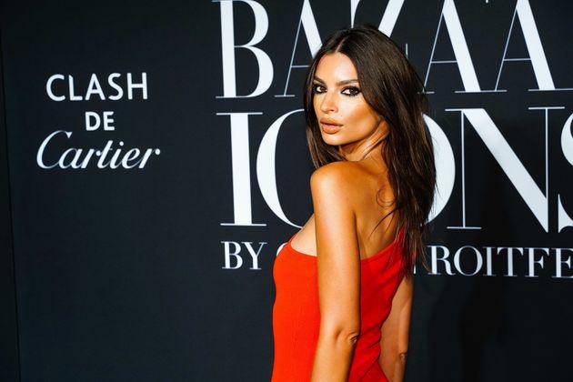 La modelo Emily Ratajkowski en el evento de Harper's BAZAAR 'ICONS By Carine Roitfeld' el 6 de septiembre...