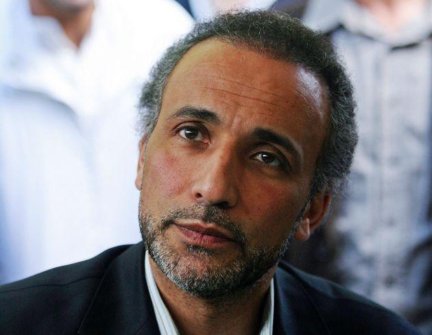 Tariq Ramadan, ici lors d'une conférence à Nantes en 2010, est accusé de viol par...