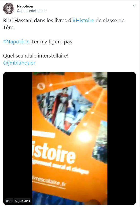 Non Bilal Hassani Ne Chasse Pas Napoleon Des Livres D