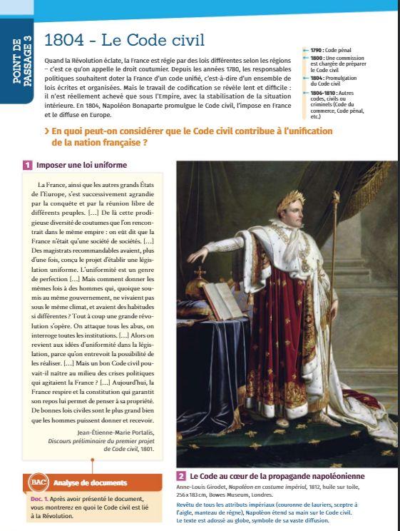 Capture de l'une des pages du manuel de 1re