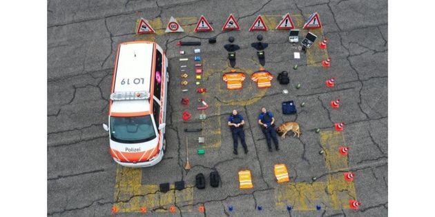 La police de Zurich participe au #TetrisChallenge