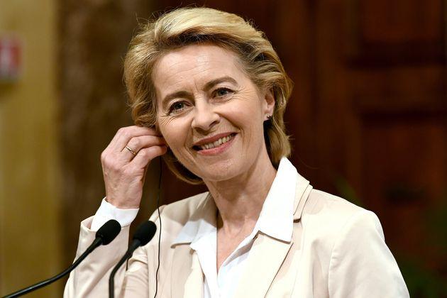 La présidente de la commission européenne, Ursula Von der Leyen, Rome, le 2 août