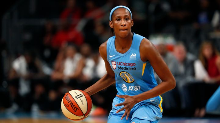 Chicago Sky center Astou Ndour was the victim of a terrible call from the referee Sunday.