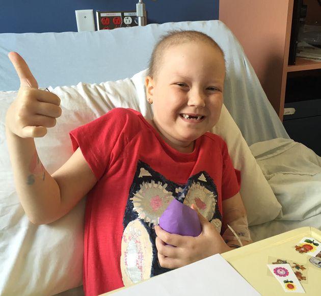Charlie Provost a reçu un diagnostic de leucémie quand elle avait cinq