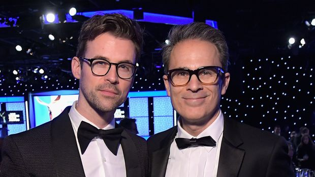 BEVERLY HILLS, CA - FEBRUARY 17:  Brad Goreski (L) and Gary Janetti attend the 2019 Writers Guild Awards L.A. Ceremony at The Beverly Hilton Hotel on February 17, 2019 in Beverly Hills, California.  (Photo by Charley Gallay/Getty Images for WGAw)