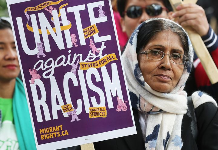 The Unite Against Racism Rally in Toronto June 16, 2019 was part of a national day of action to promote migrant and racial justice and denounce white supremacy and discrimination.