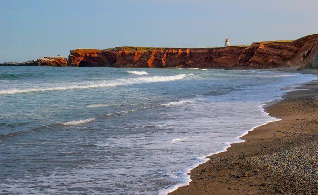 Photo du Cap Alright à l'Anse Firmin sur l'Île du Havre aux Maisons, aux