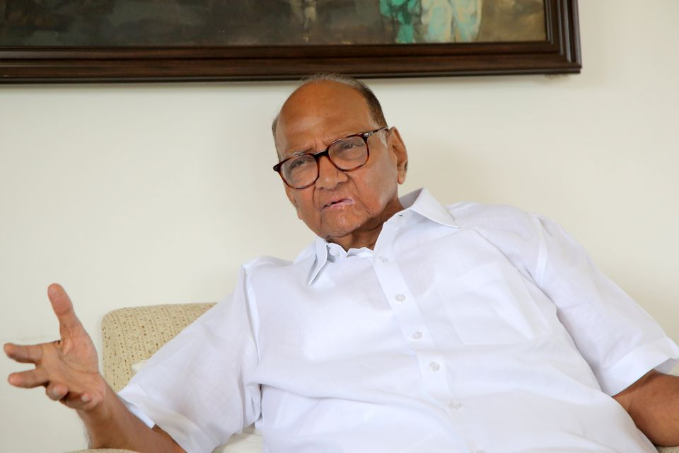 NCP chief Sharad Pawar during an interview with HuffPost