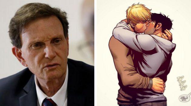 Prefeito do Rio de Janeiro enviou fiscais para recolher livro com beijo gay entre dois personagens considerado...
