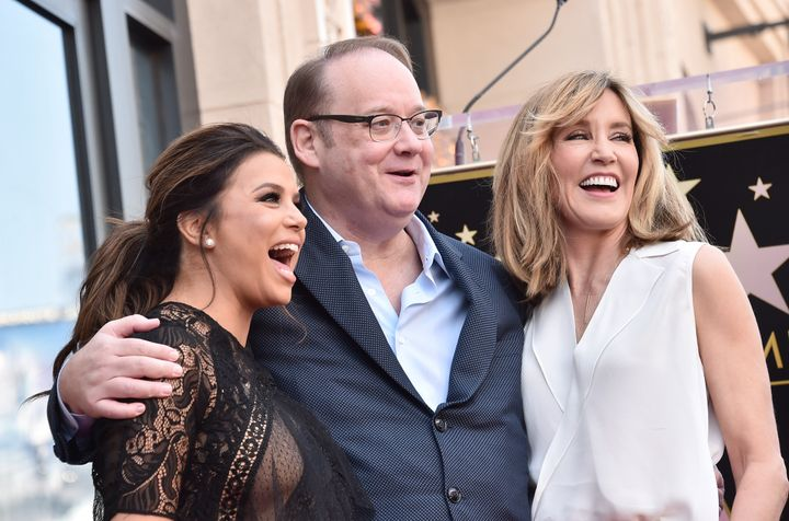 Longoria, Marc Cherry and Huffman at Longoria's Hollywood Walk of Fame ceremony.