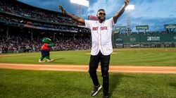David Ortiz Throws First Pitch At Fenway In Appearance After