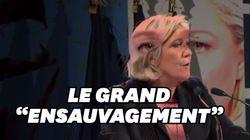 Marine Le Pen agite encore la peur de