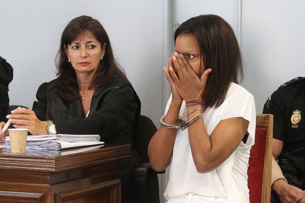 Ana Julia Quezada), autora confesa de la muerte de Gabriel Cruz, al comienzo de la vista en la Audiencia...