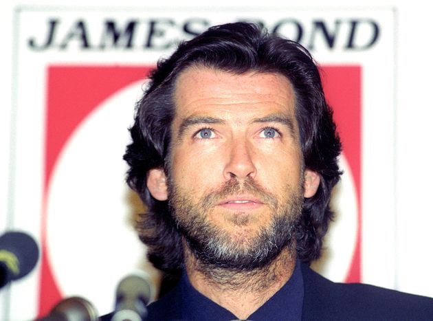 Irish actor Pierce Brosnan attends a news conference where it was announced that he will play the new...