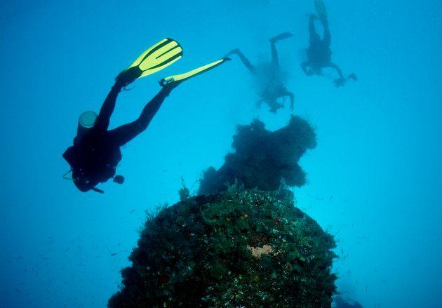 Des chercheurs français plongent près des côtes de Guyane, à plus de 100 mètres,...
