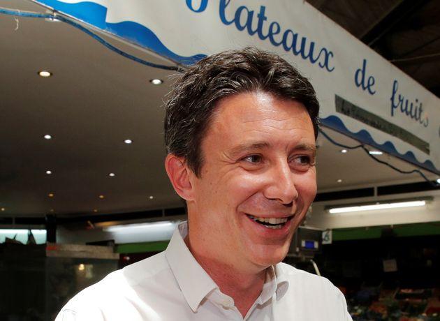 Benjamin Griveaux au marché de St-Quentin à Paris au mois de