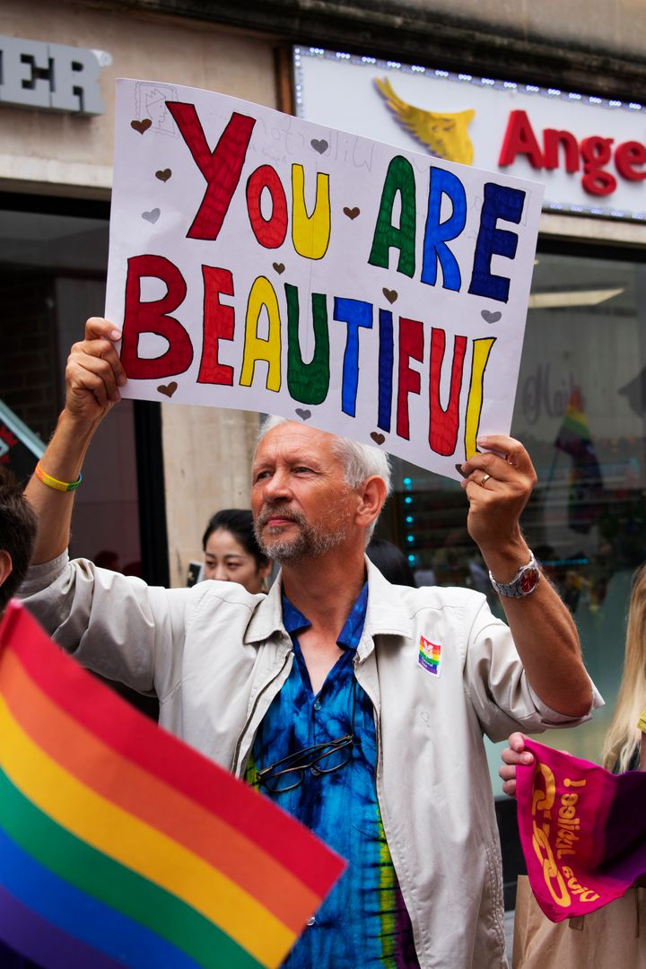 """""""A Christian at Bristol Pride, showing support to the LGBTQ+ community."""""""