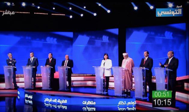 Débat télévisé entre les candidats à la présidence de la République...