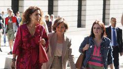PSOE y Podemos, reunidos esta mañana en el Congreso sin visos de