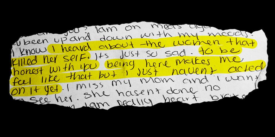 Extracto de una carta de Mariam Abdullah escrita durante su