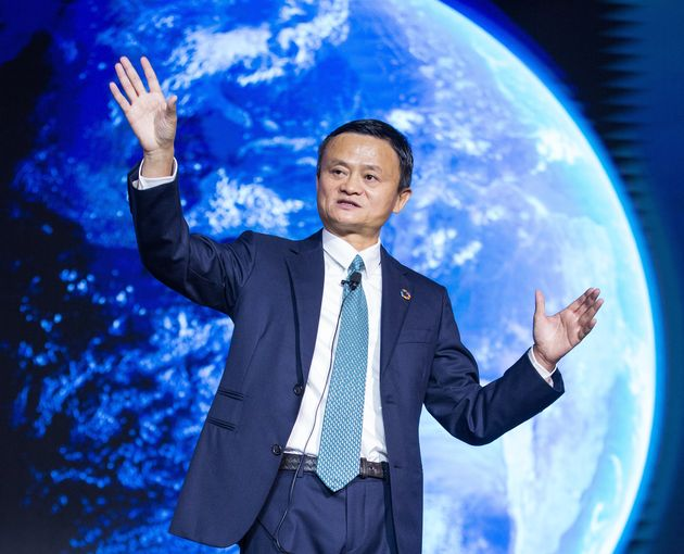 Alibaba Group Chairman Jack Ma speaks during 2019 Global Conference on Women and Entrepreneurship on...
